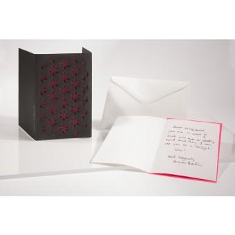 formes Berlin Wirbel und Welle Set, schwarz, 2 Karten - Reliefkarte mit gelasertem Motiv, Einlegern und  Umschlag