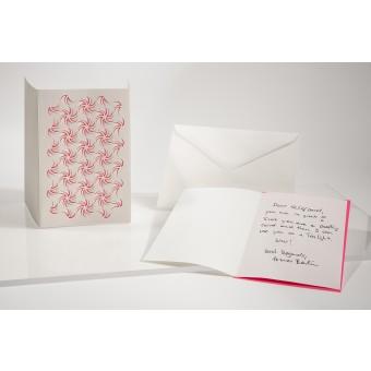 formes Berlin Wirbel und Welle Set, weiss, 2 Karten - Reliefkarte mit gelasertem Motiv, Einlegern und  Umschlag