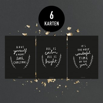 typealive / Weihnachtskarten-Set / Calm & Bright