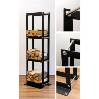 "pluraform Kaminholzregal ""WoodPacker Triple-Tower"""