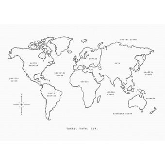 WORLD MAP - A3 Print - Anna Cosma