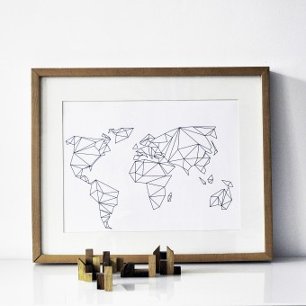 na.hili Print Geometrical World - A3 Poster