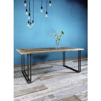 Esstisch aus Bauholz & Eisen Yael 200 x 100 cm