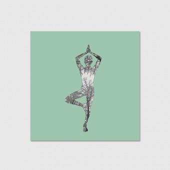 """ZEITLOOPS """"Yoga Tree"""", Poster"""