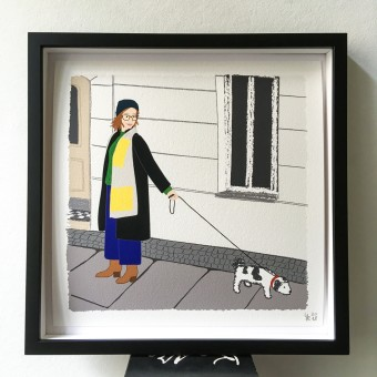 "Neighbour Series ""Neighbour No. 6"" – YUKY RYANG, Giclée-Druck, Format 28 x 28 cm"