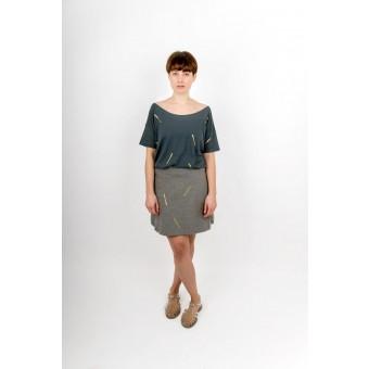 ZITAT Gold Confetti Skirt Grey