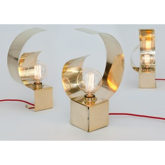 LJ LAMPS Zeta double reflect – Leuchte aus Messing