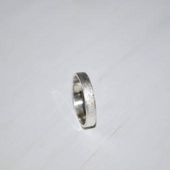 "DOPPELLUDWIG – Ring ""Geschmort mittel"" aus 925/- Silber"