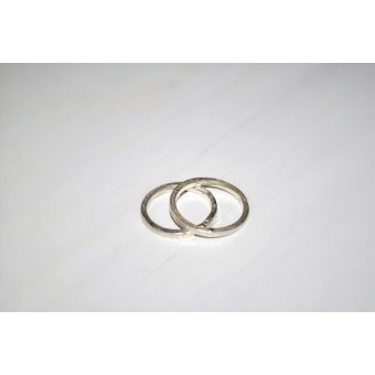"DOPPELLUDWIG – Ring ""Geschmort schmal"" aus 925/- Silber"