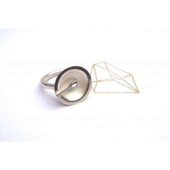 """DOPPELLUDWIG – TAFELSILBER  Ring """"Suppe"""" aus 925/- Silber"""