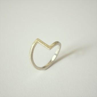 "DOPPELLUDWIG - Ring ""Verwinkelt"" aus 925/- Silber"