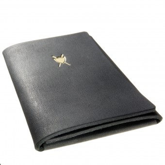 LIEBHARDT - Portemonnaie / Kreditkartenetui, Geldbörse aus pflanzlich gegerbtem Leder mit Kartenfach (schwarz)
