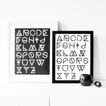 na.hili A3 Print - Geometrical ABC Poster