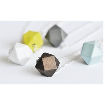 na.hili Kette Geometric Wood mit Silberkette