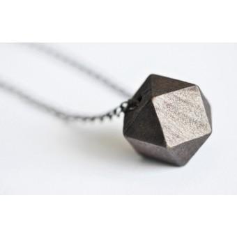 na.hili Kette Geometric Wood mit Bronzekette