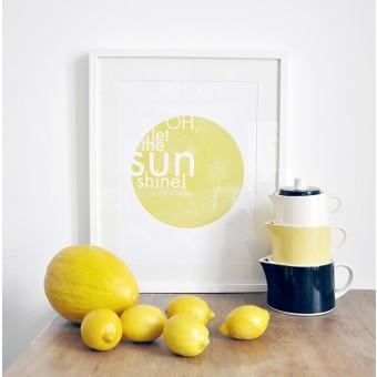"nahili ARTPRINT / POSTER ""OH let the Sun Shine"" (DIN A4/A3) gelbe gute Laune & Sonne"