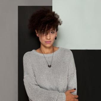 B KREB jewelry - 3 Q necklace - schwarz (Kettenlänge 50 cm)
