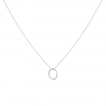 B KREB jewelry - RING thin necklace - silber/silber