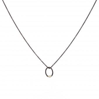 B KREB jewelry - RING necklace -  geschwärztes Silber