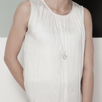 B KREB jewelry - CUBE necklace XS - silber