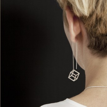 B KREB jewelry - CUBE earrings S