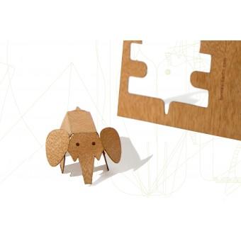 formes Berlin Elefantenkarten - 6 Postkarten aus Holz