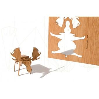 formes Berlin Elchkarten - 6 Postkarten aus Holz