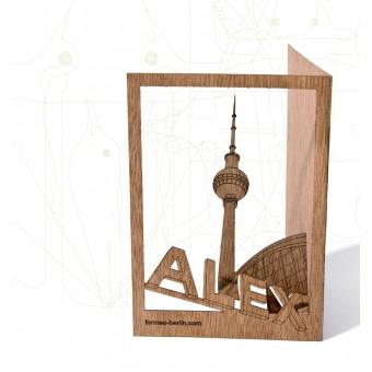 formes Berlin Alexanderplatz-Karten - 6 Postkarten aus Holz
