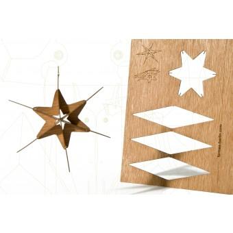 formes Berlin Stern #4-Karten - 6 Postkarten aus Holz