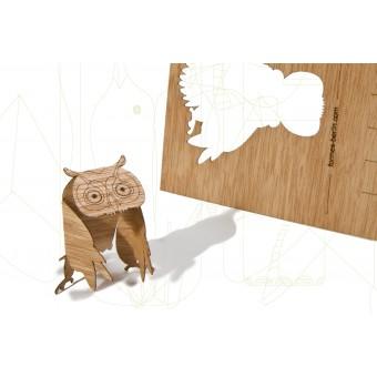 formes Berlin Eulenkarten - 6 Postkarten aus Holz