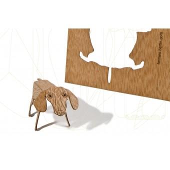 formes Berlin Dackelkarten - 6 Postkarten aus Holz