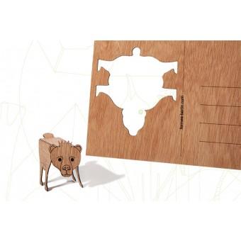 formes Berlin BerlinerBärkarten - 6 Postkarten aus Holz