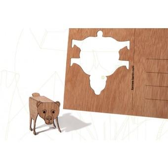 formes Berlin Bärkarten - 6 Postkarten aus Holz