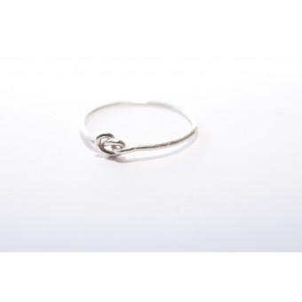 THONYN ZACK // Knoten Ring, Silberring, 935 Sterling Silber