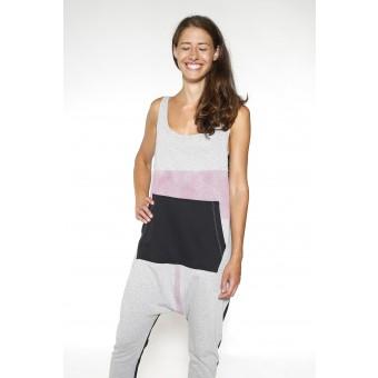 Trikotesse Printed Kangaroo Jumpsuit