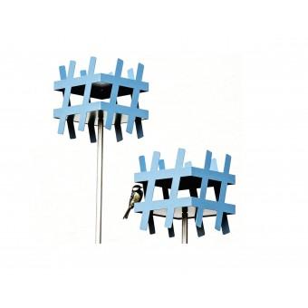 #TweetFeed - SET : Vogelhaus mit Edelstahl-Bodenstab 170cm