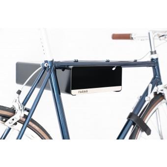 Design Fahrrad-Wandhalterung | PARAX® S-RACK | Schwarz mit Holz Schwarz | für Rennrad Hardtail & Cityrad