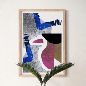 formwiese »Ankunft« (nachhaltiges A2 Poster, Recyclingpapier, vegan, abstrakt)