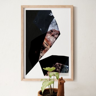 formwiese »Klippensprung« (nachhaltiges Din A2 Poster, Recyclingpapier, vegan, abstrakt)