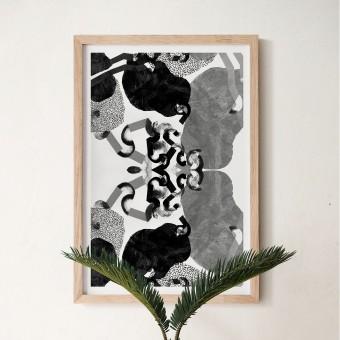 formwiese »Irrlauf« (nachhaltiges A2 Poster, Recyclingpapier, vegan, abstrakt)