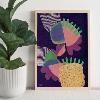 formwiese - »Meeresrauschen« (A3 Poster, Graspapier, abstrakt)