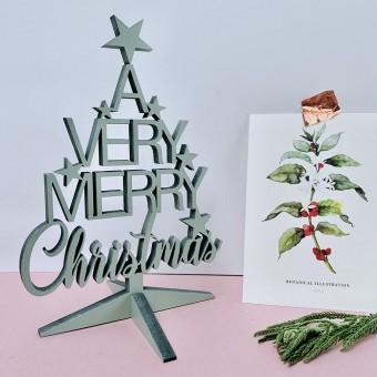NOGALLERY A very merry Christmas Aufsteller - Deko Schriftzug Holz