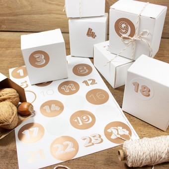 Bow & Hummingbird Adventskalender Kupfer mit Boxen