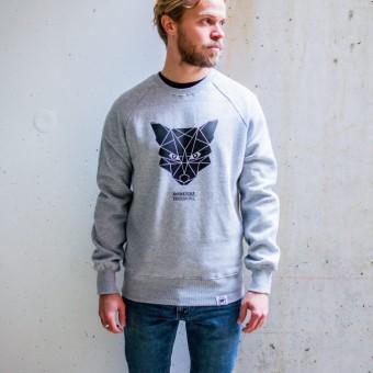 ÄSTHETIKA Sweatshirt - THE FOX grey/black