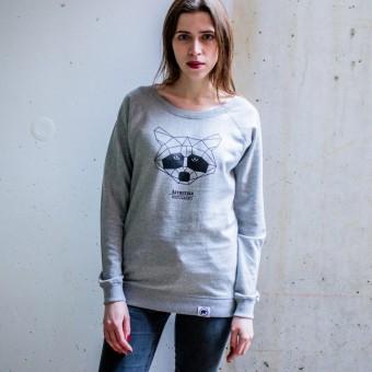 ÄSTHETIKA Sweatshirt - THE RACCOON grey/black