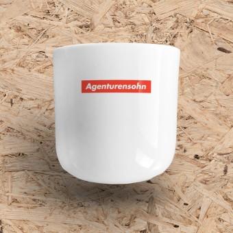 "edition ij ""Agenturensohn"" Stabiler Porzellanbecher für Kaffee & Co."