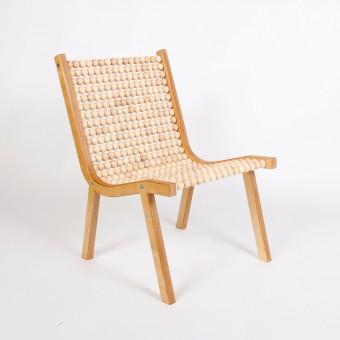 "Atelier Fesseler o432 lounge chair ""Ahorn Holzkugeln"""