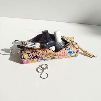 Grotkop Collection AIR Kork Kosmetiktasche metallic bunt