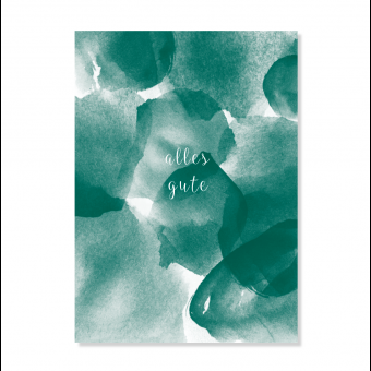 """Edith schmuckes Papier """"alles gute"""" Postkarte"""