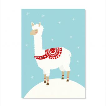 "Edith schmuckes Papier ""Weihnachtsalpaka"" Postkarte"